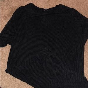 Brandy Melville black striped over sized shirt